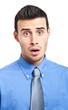 Portrait of a surprised businessman