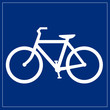 Schild blau - Fahrradverleih