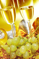 spanish cava and the grapes of luck