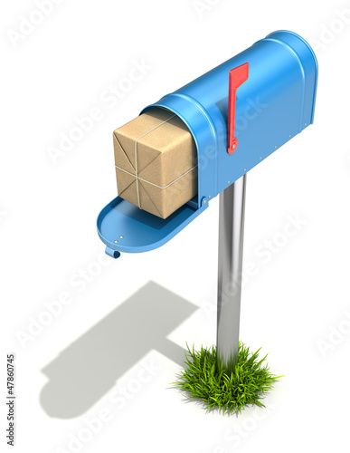 Mailbox with post package
