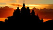 Ukraine St Michael Golden Domed Cathedral sunrise