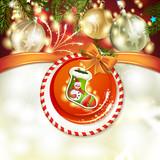 Christmas sock tree with ball