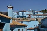 Juzcar, blue town in Malaga (Spain)
