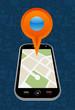 GPS city map arrow
