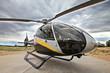 Moderner Hubschrauber EC 130 in Einsatzbereitschaft