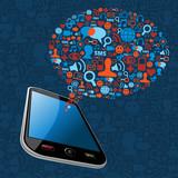 Social media bubble smart phone