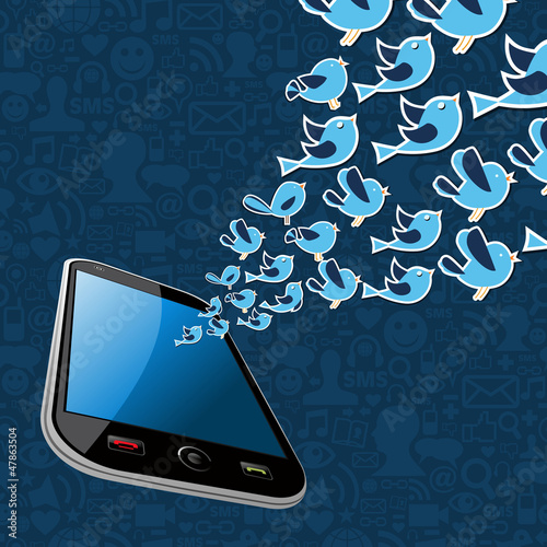 Twitter birds splash out smartphone application