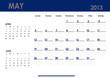 Monthly calendar for 2013 year - May. Start on Sunday.