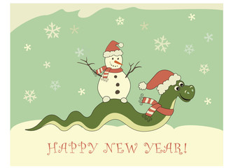 Snake New Year 2013 card