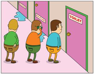 Toilet Queuing