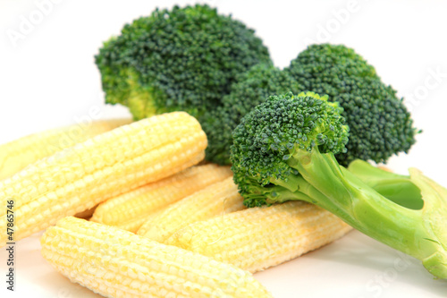 Fresh Baby corn and  Broccoli