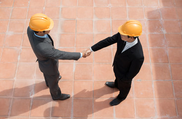Construction site meeting