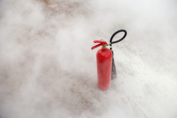 Fire Extinguisher with smoke