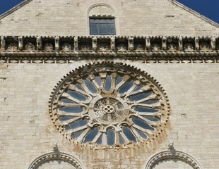 The rosette of a church in Monte Saint Angelo in Italy