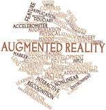 Word cloud for Augmented reality poster