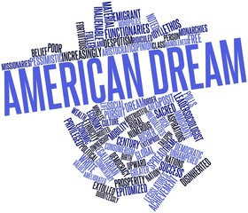 Word cloud for American Dream