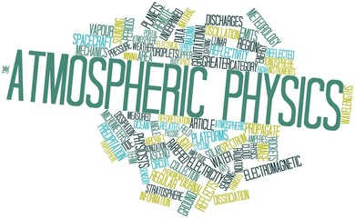 Word cloud for Atmospheric physics