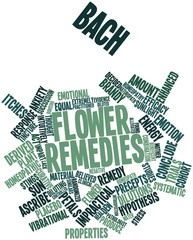 Word cloud for Bach flower remedies