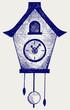 Cuckoo Clock. Doodle style - 47868775