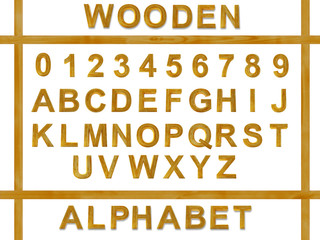 alphabet from wooden letters