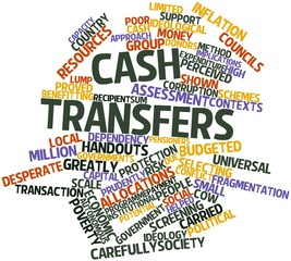 Word cloud for Cash transfers