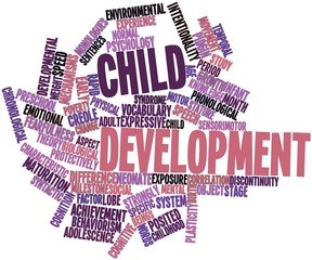 Word cloud for Child development