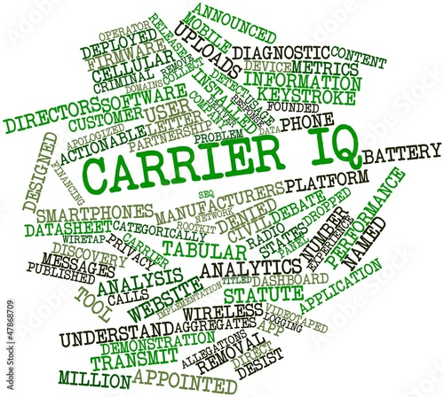 Word cloud for Carrier IQ
