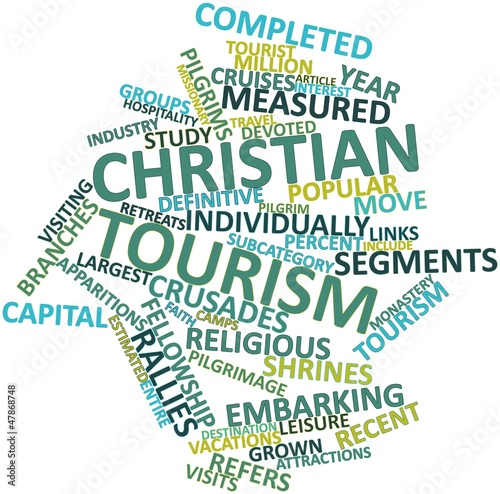 Word cloud for Christian tourism