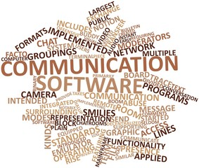 Word cloud for Communication software