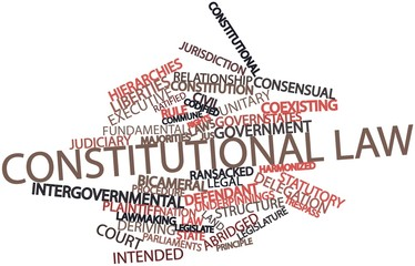 Word cloud for Constitutional law