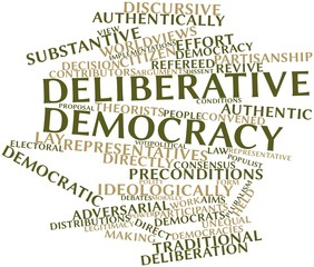 Word cloud for Deliberative democracy