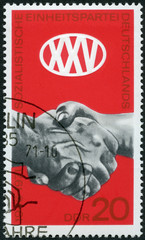 GERMANY- 1971: shows Clasped Hands