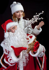 Santa Claus and Snow-maiden