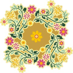Vector Vintage Circle Ornament