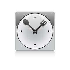 kitchen metal clock sign