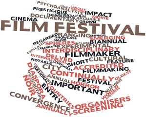 Word cloud for Film festival