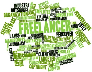 Word cloud for Freelancer