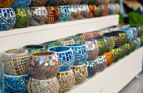 Colorful turkish decoration souvenirs