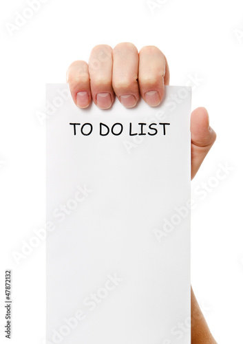 Hand was holding of a to do list paper note