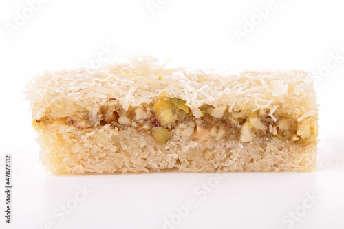 baklava isolated on white