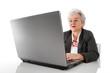 Lebenslanges Lernen - Seniorin am PC