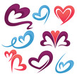 vector collection of love symbols, signs and forms