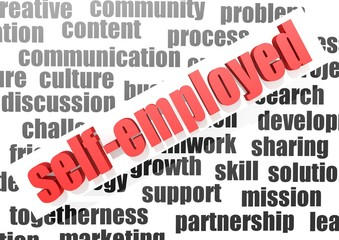 business word of self-employed