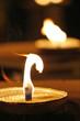 Kerzenfeuer im Wind