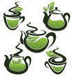 green tea, vector collection of forms, symbols and images