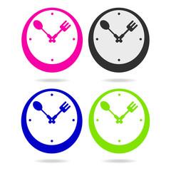 kitchen metal clock icon