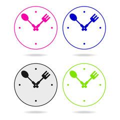 kitchen metal clock icon sign
