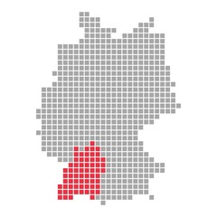 Baden-Württemberg - Serie: Pixelkarte Bundesländer