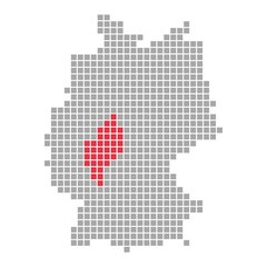 Hessen - Serie: Pixelkarte Bundesländer