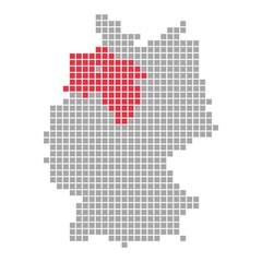 Niedersachsen - Serie: Pixelkarte Bundesländer